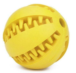 Dog Teeth Cleaning Rubber Ball - Epaws yellow