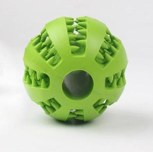 Dog Teeth Cleaning Rubber Ball - Epaws green