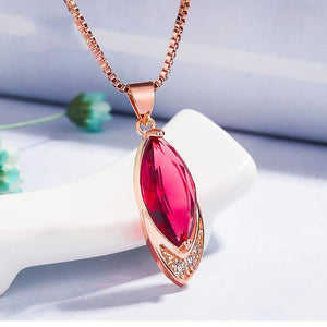 Silver 925 Jewelry Ruby Necklace for Women