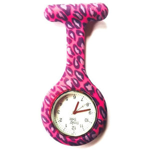 Pink Leopard Analogue Silicone Fob Watch