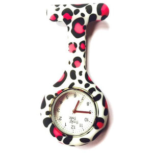 Pink Splash Analogue Silicone Fob Watch