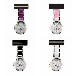 Two Tone Diamonte Fob Watch