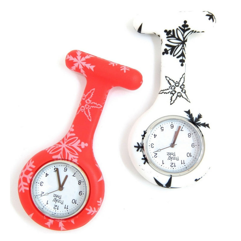 Christmas Snowflake Silicone Fob Watch