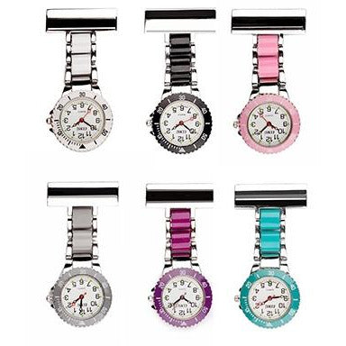 Two Tone Metal Nurse Fob Watch