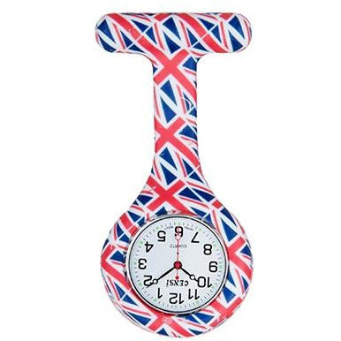 Union Jack Silicone Fob Watch