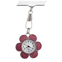Flower Fob Watch - Blue, Pink or Silver