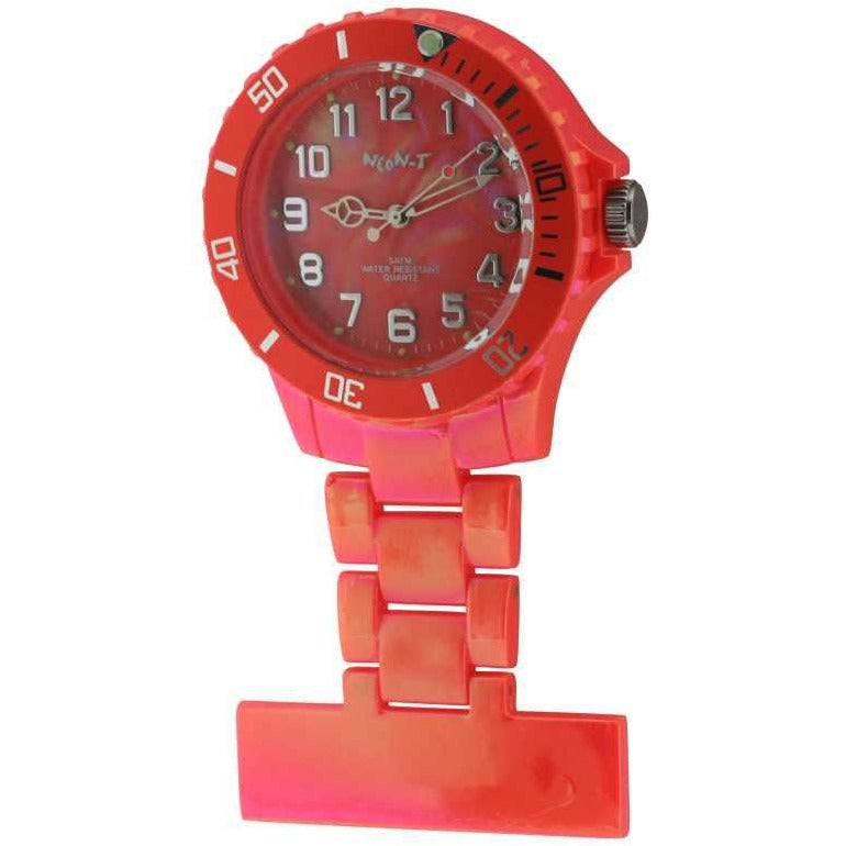 Neon Pearl Orange Fob Watch