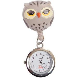 Owl Retractable Pull Reel with Watch