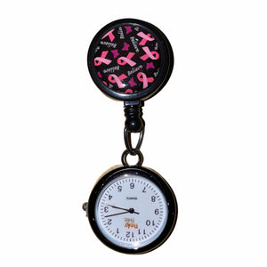 Pink Ribbons Pulley Retractable Watch