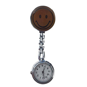 Brown Smiley Face Fob Watch