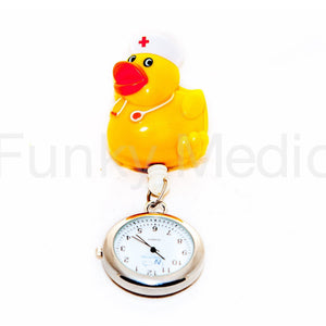 Nurse Duck Retractable Pull Reel Watch