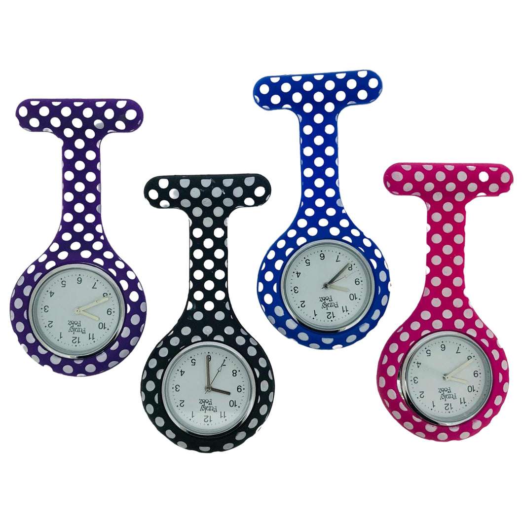 Dotty Silicone Fob Watch Available in 4 Colours