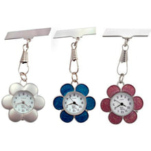 Load image into Gallery viewer, Flower Fob Watch - Blue, Pink or Silver