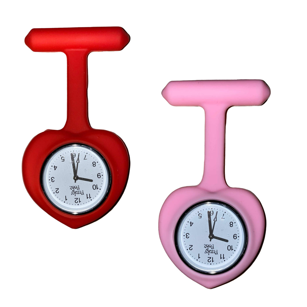 Heart Silicone Fob Watch