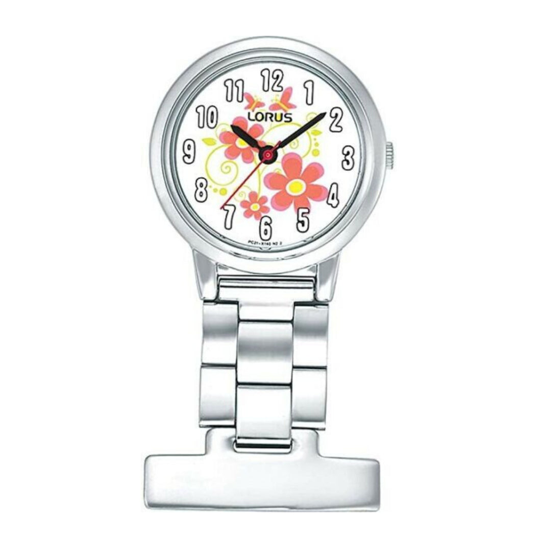 LORUS Fob Watch - Flowers Dial