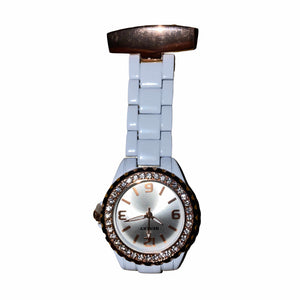 Henley White & Rose Gold Fob Watch