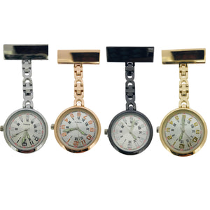 Stunning Classic Fob Watches with Thin Chain in Four Colours