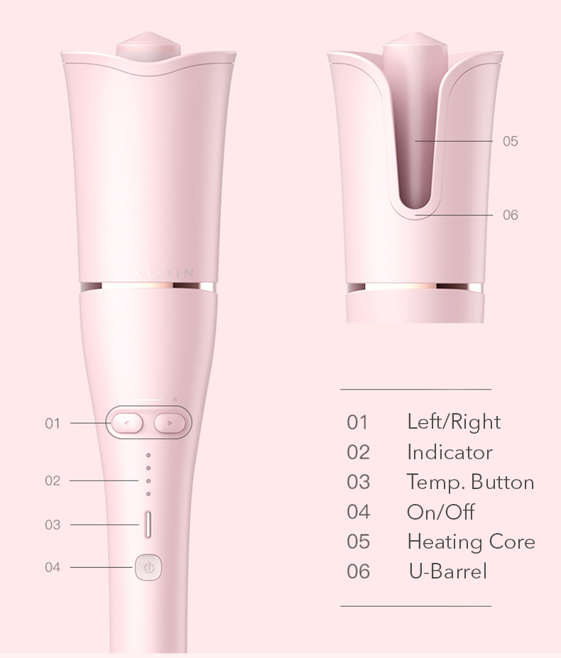 Pink Rose Automatic Hair Curler- Pink Remedy