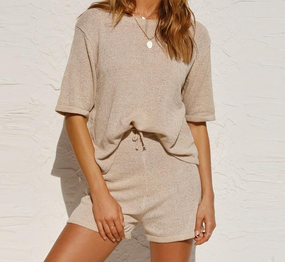 Top And Shorts Khaki