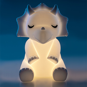 Lil Dreamers Triceratops Silicone Touch LED Light