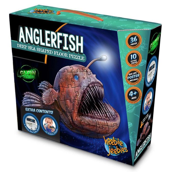 Anglerfish Shaped Giant Floor Puzzle