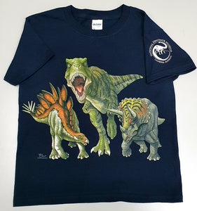 Dino Heads & Tails Adult T-shirt