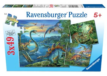 Ravensburger - Dinosaur Fascination Puzzle (set of 3) 49 pcs
