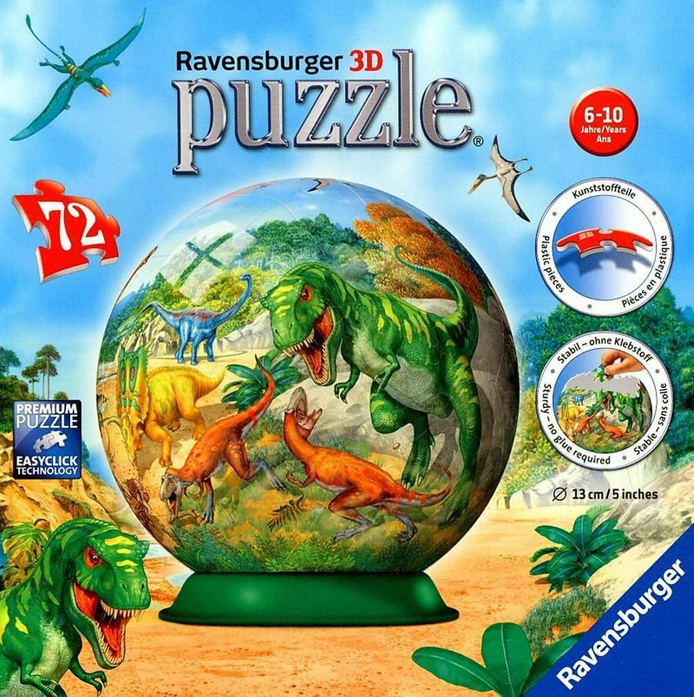 Kingdom of the Dinosaurs Puzball: 3D Puzzle 72pc