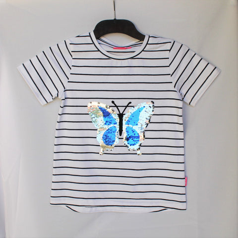 Childrens Sequin Butterfly T-Shirt