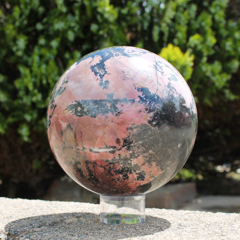 Rhodonite Sphere - Extra Large