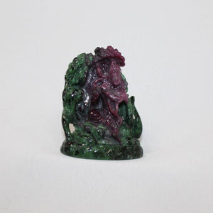Ruby Zoisite Krishna Carving
