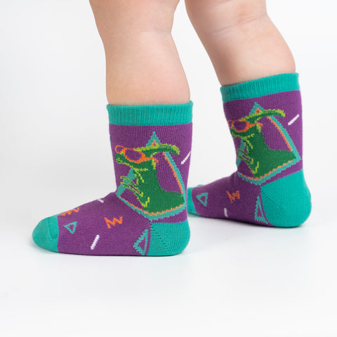 Jurassic Party Toddler Crew Socks