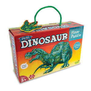 Shiny Floor Puzzle - Dinosaurs (51 pieces, 5+ yrs)