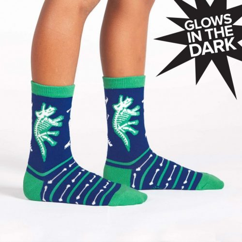 Dinosaur Bones Mens Crew Socks – Glow In The Dark