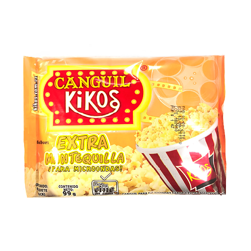 Canguil Microondas Kikos Extra Mantequilla 99gr