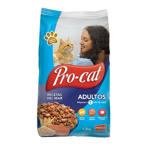 Alimento Gatos Pro-Cat Adulto Recetas del Mar 1,5kg
