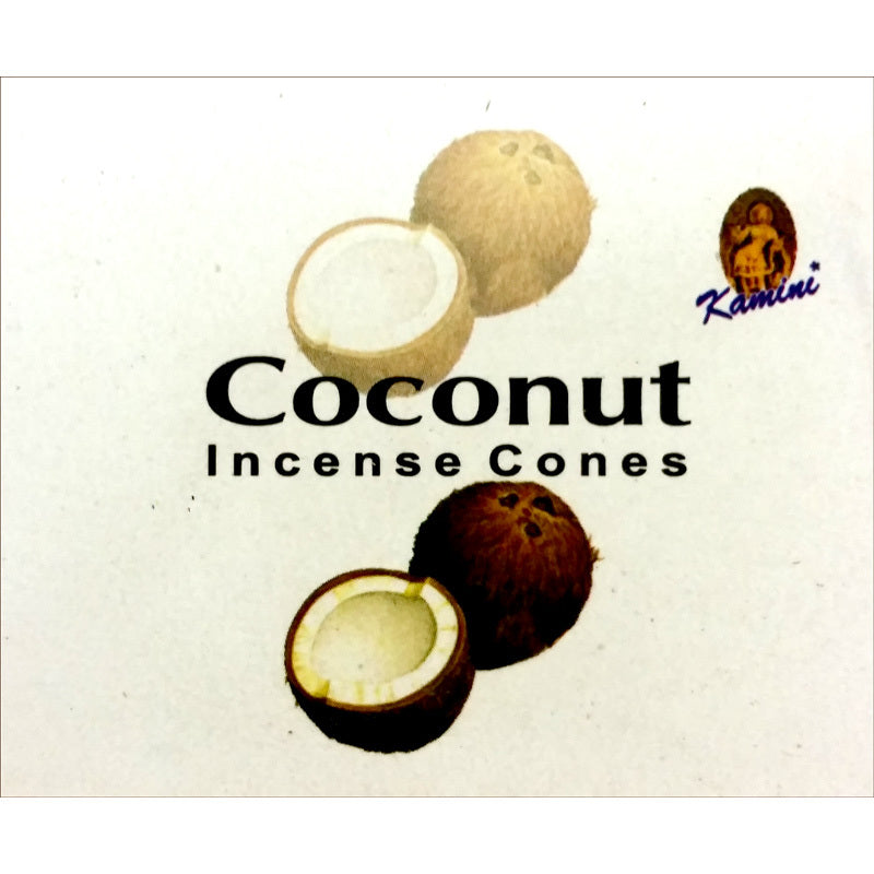 Kamini Coconut Incense Cones Box of 12 Packs