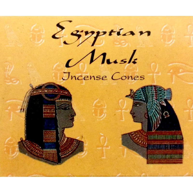 Kamini Egyptian Musk Incense Cones Box of 12 Packs