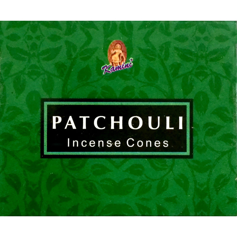 Kamini Patchouli Incense Cones Box of 12 Packs