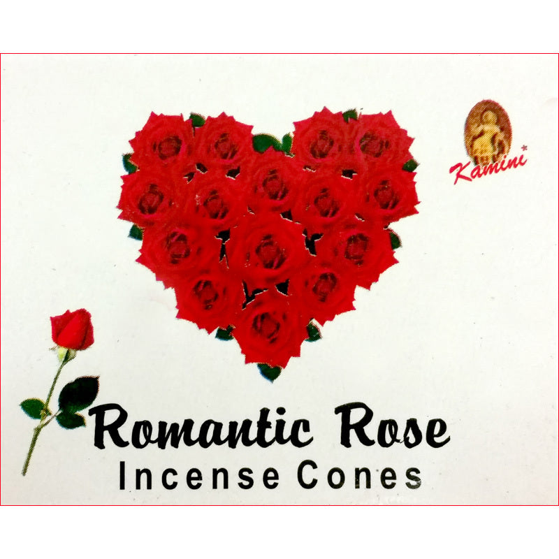 Kamini Romantic Rose Incense Cones Box of 12 Packs