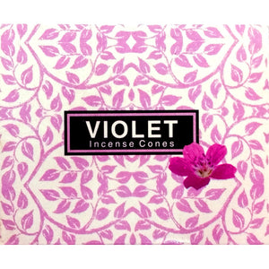 Kamini Violet Incense Cones Box of 12 Packs