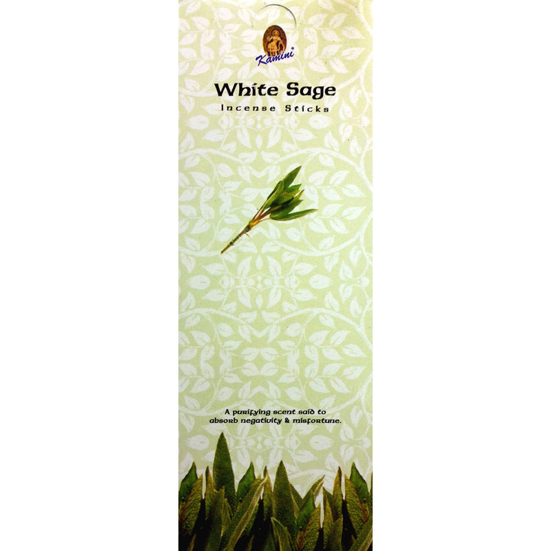 Kamini White Sage Incense Sticks Rectangular 40g BOX of 12