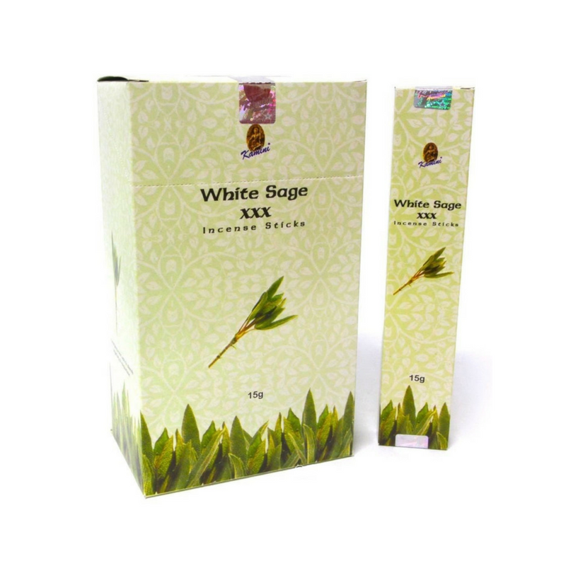 Kamini White Sage XXX Incense Sticks 15g BOX of 12
