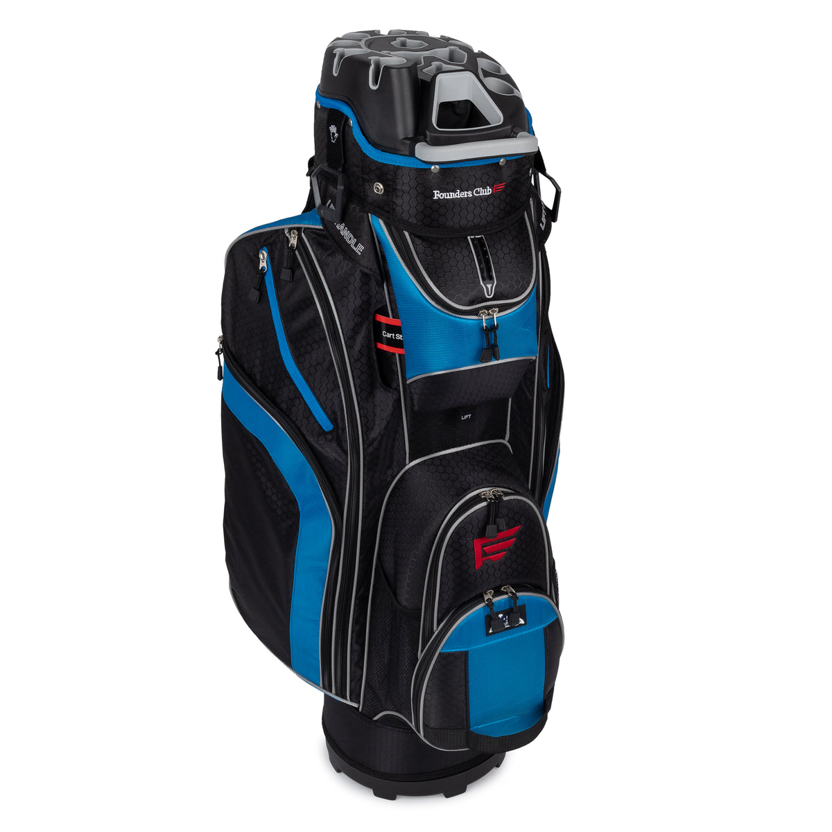 Founders Club Premium 14 Way Cart Bag - Aegean Blue