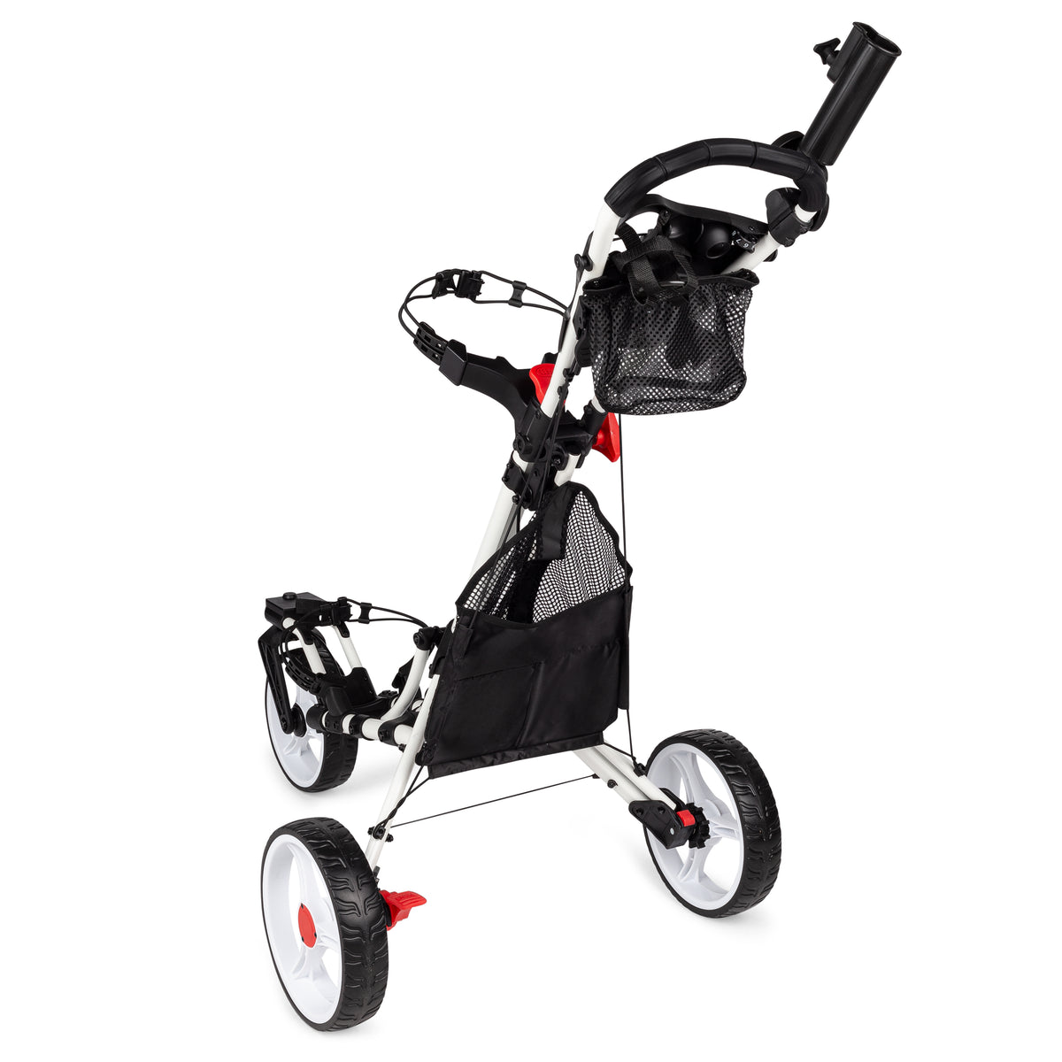 Swerve 3 Wheel Golf Cart- White/White