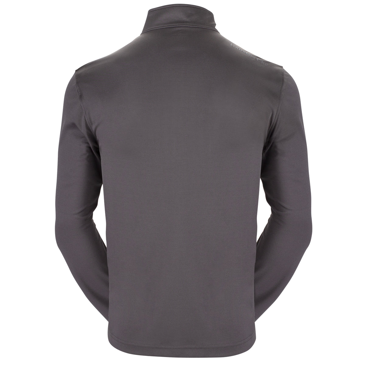 Founders Club Performance Men's Long Sleeve Lightweight Breathable Thermal Half Zip Baselayer Shirt Top Golf Hiking Skiing Gray