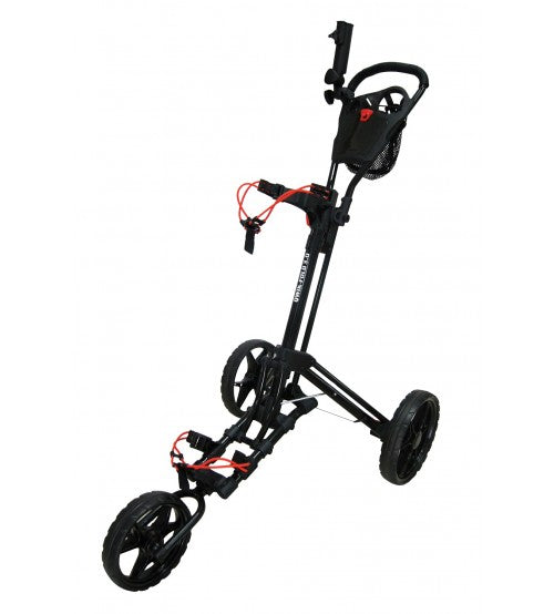 Qwik Fold 3.5 - 3 Wheel Golf Cart Trolley - Black