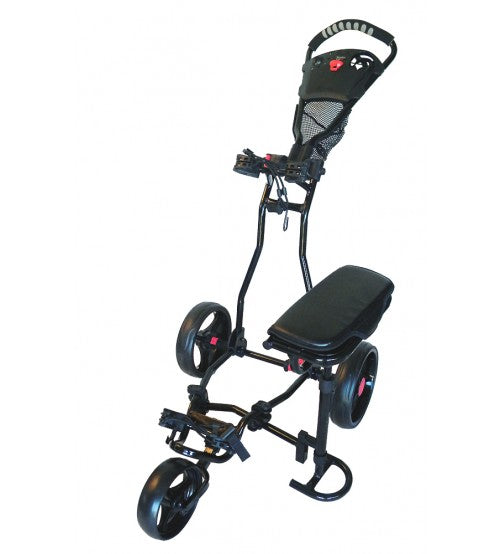 Spider 3 Wheel Golf Cart with Seat - Black