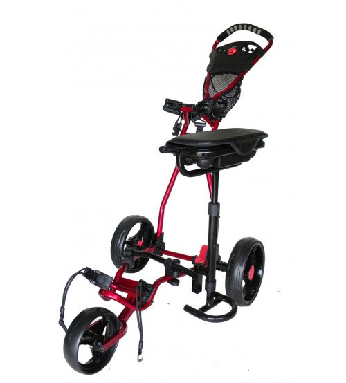Spider 3 Wheel Golf Cart with Seat - Red
