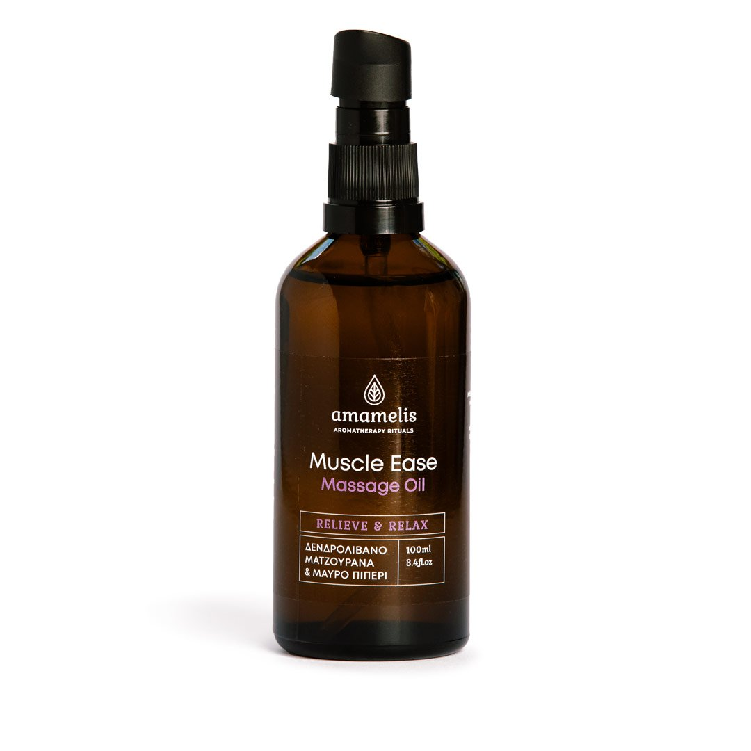 'Muscle Ease' Massage Oil με Αιθέρια Έλαια, 100ml